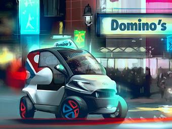 Лучший пиццамобиль конкурса Domino's Pizza. Фото с сайта forge.localmotors.com