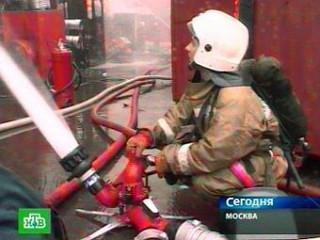 В Москве загорелся торговый центр