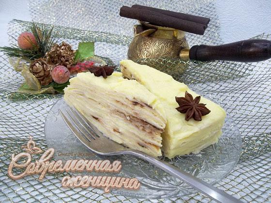 Торт наполеон рецепт пошагово из покупного слоеного теста