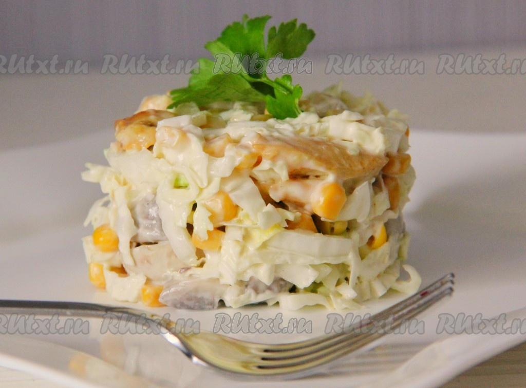 Салат из грибов и кукурузы
