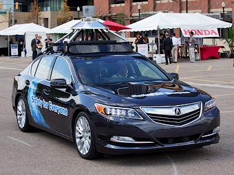 Honda обещает к 2020 году серийно выпускать авто с автопилотом