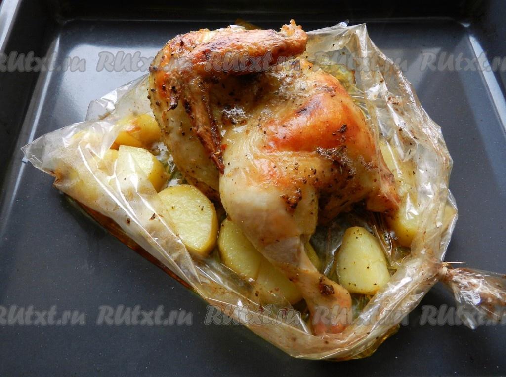 Курочка запеченная в духовке в рукаве рецепт