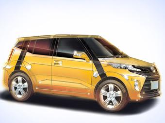Предполагаемый внешний вид компактного кроссовера Toyota. Изображение с сайта mag-x.com