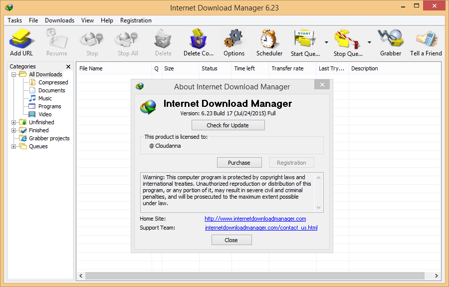 Internet Download Manager IDM 623 Build 11, 12 final