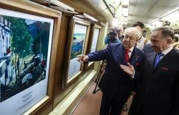 В метро запустили поезд с репродукциями Малевича, Дейнеки и Церетели
