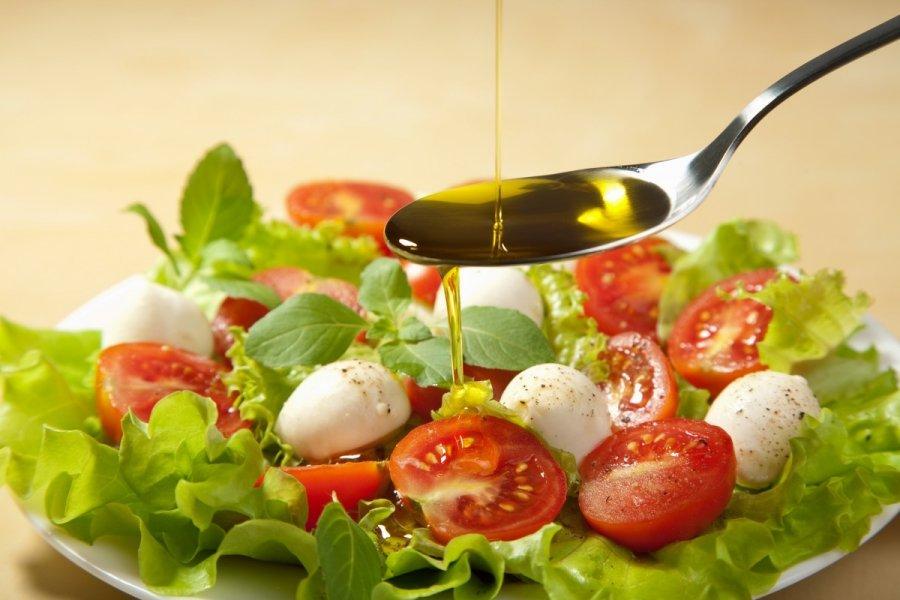 Овощной салат с маслом рецепты