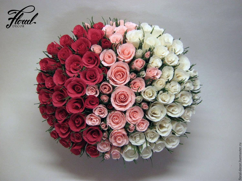 Букеты из цветов своими руками розы 85