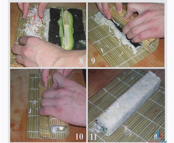Приготовление роллов в домашних условиях с пошаговым фото