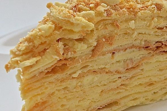 рецепт торт наполеон с вареной сгущенкой рецепт с фото