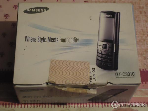 Сотовый телефон samsung gt-c3010 red