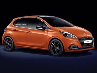 Обновленный Peugeot 208. Изображение worldscoop.forumpro.fr