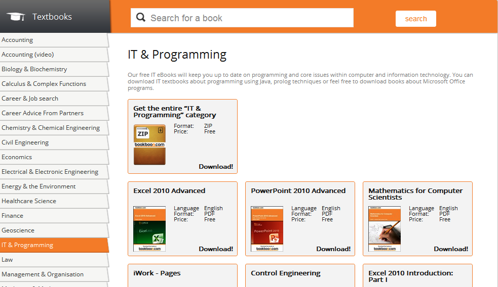Download all FREE ebooks - All books PDF version without