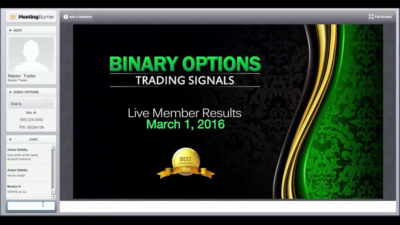binary options live trading