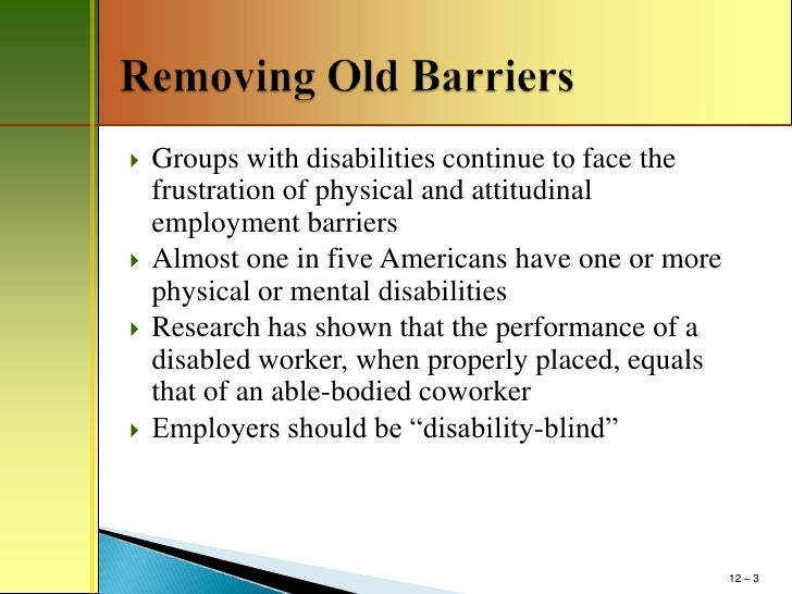 Discrimination Against Disabled People - Researchomatic