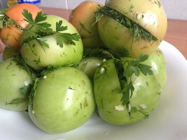 Малосольные помидоры зеленые рецепт быстрого приготовления