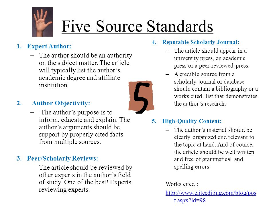 THE SCHOLARLY PAPER - SAGE Publications