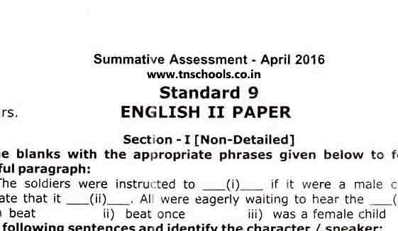 CBSE Std 10, English Communicative, Term I