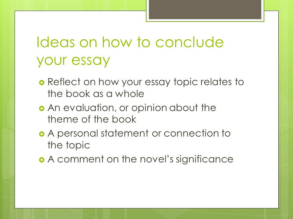Ideas for how to essays