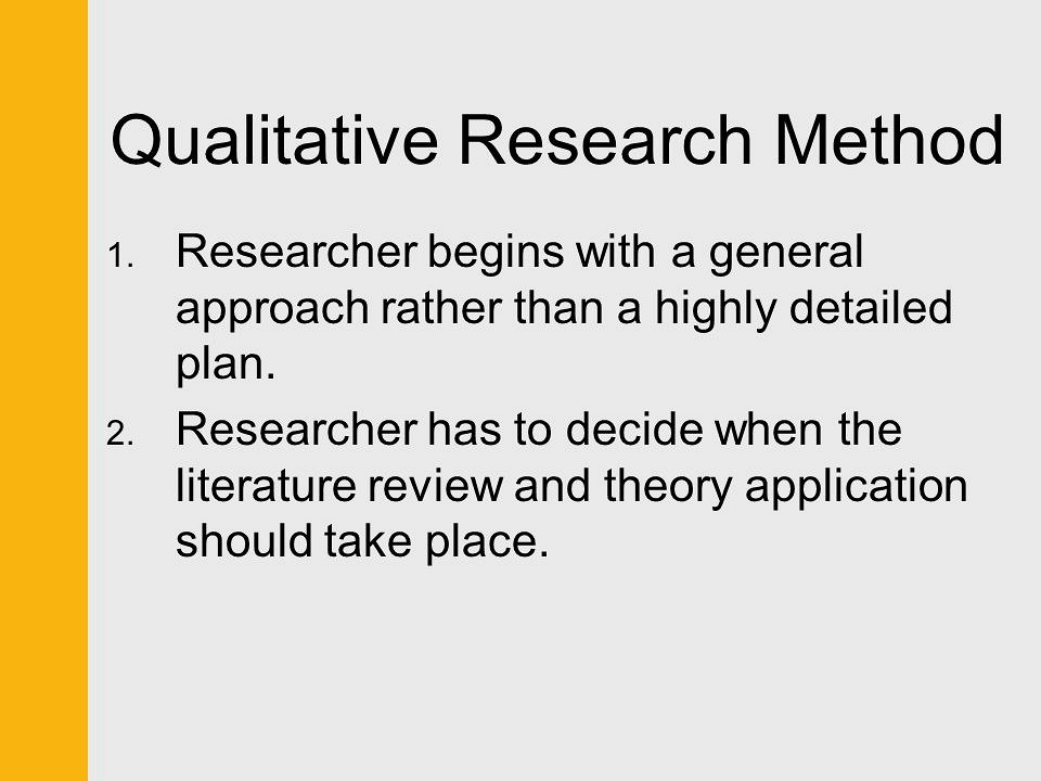 literature review on research methods Qualitative analysis techniques for the literature review specified in the seminal document developed by the task force on reporting of research methods.