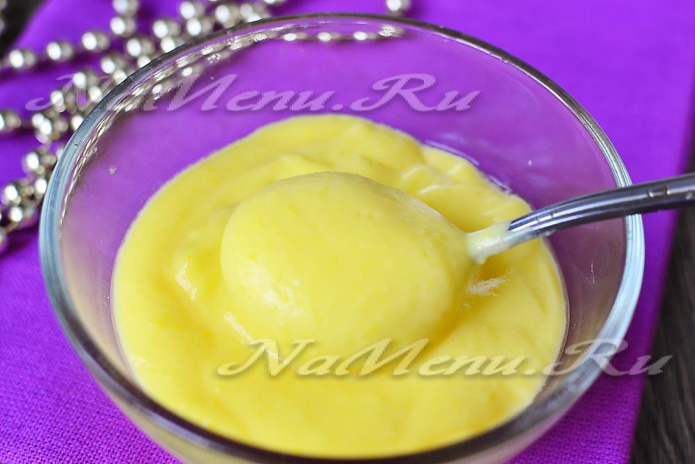 Рецепт быстрого приготовления крема