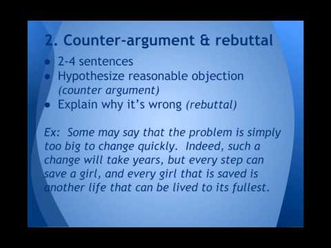 Rebuttal - Examples and Definition of Rebuttal
