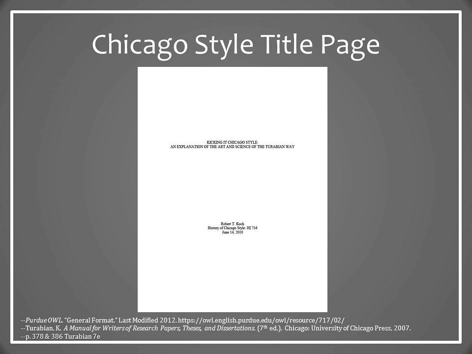 Sample research paper chicago style format