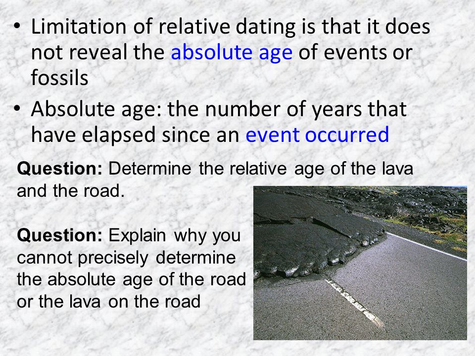 Relative dating in science definition