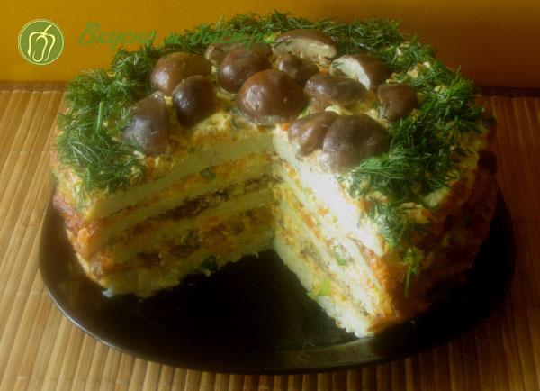 Тортик из кабачков рецепты быстро