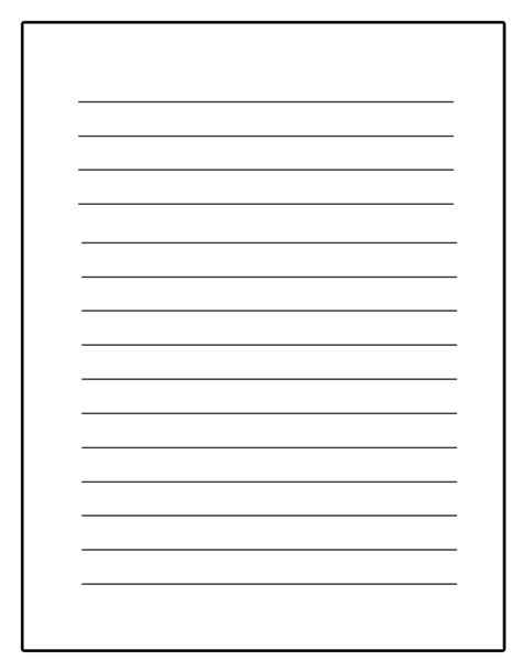 Journal writing paper template