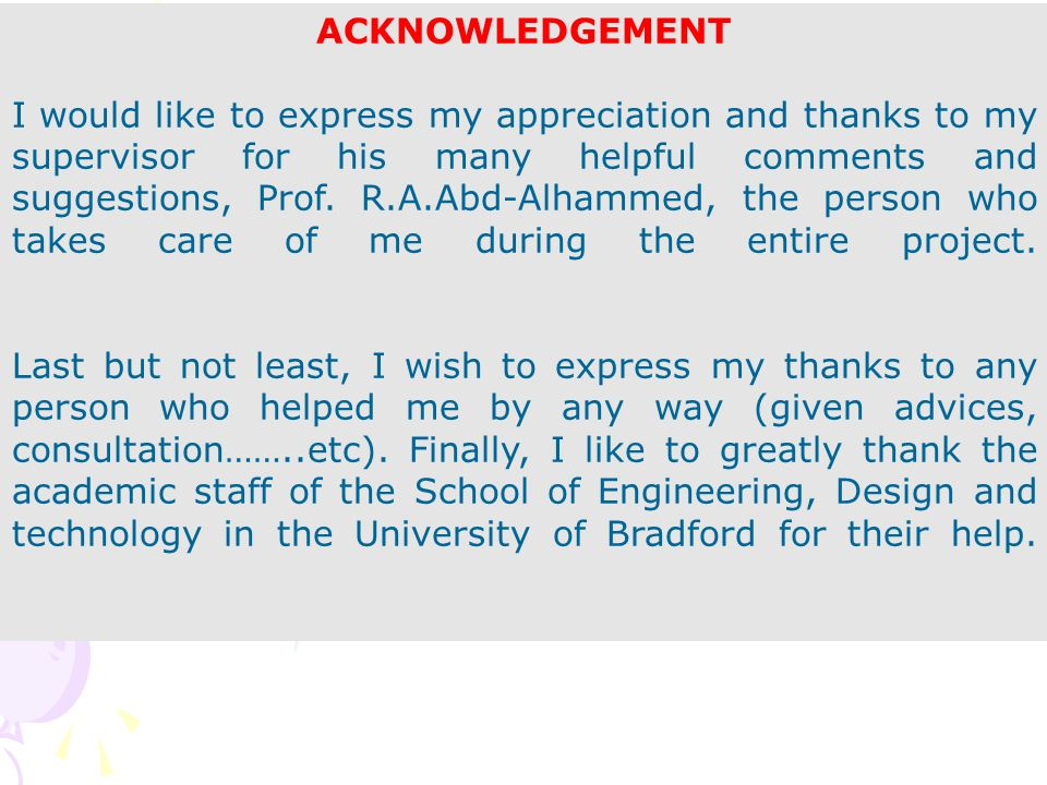 Thesis acknowledgement template
