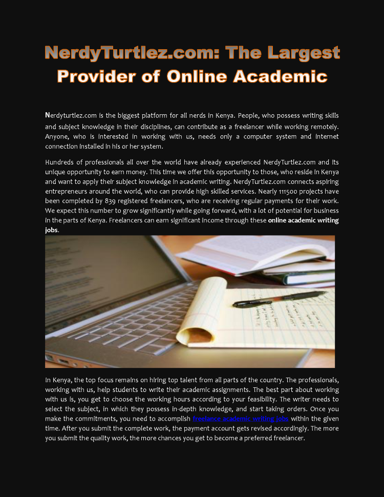 Academic help writing