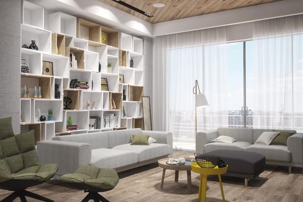 Проект минималистской квартиры наКутузовском дляспециалиста поIT-технологиям