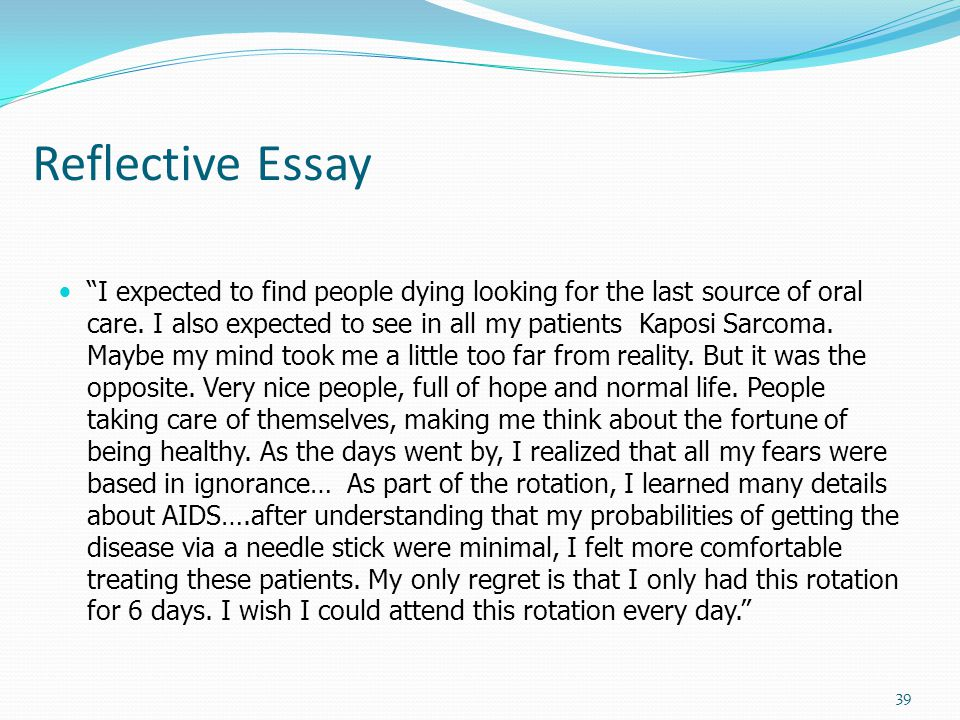 Write my reflective essays examples models