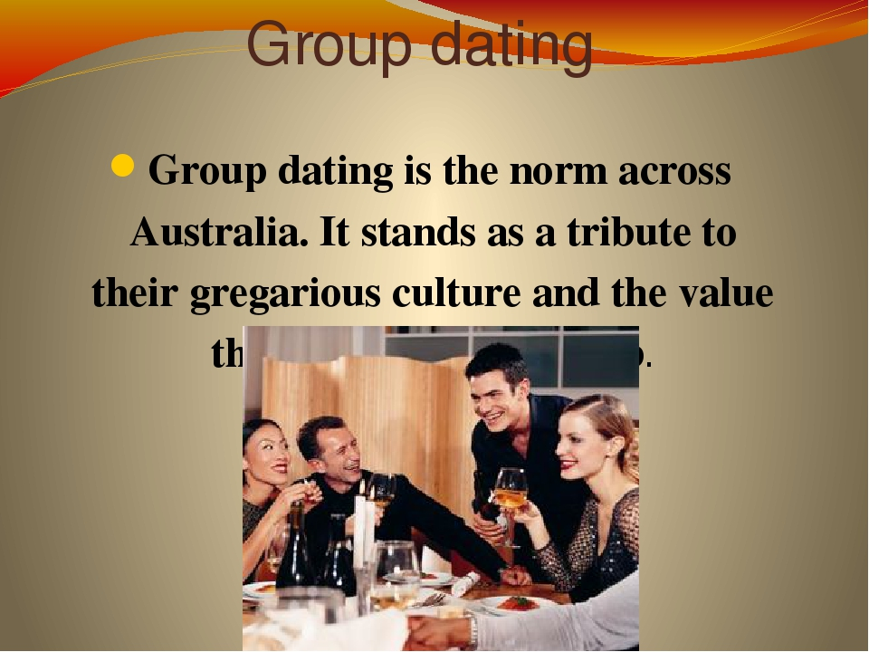 Dating practices in australia
