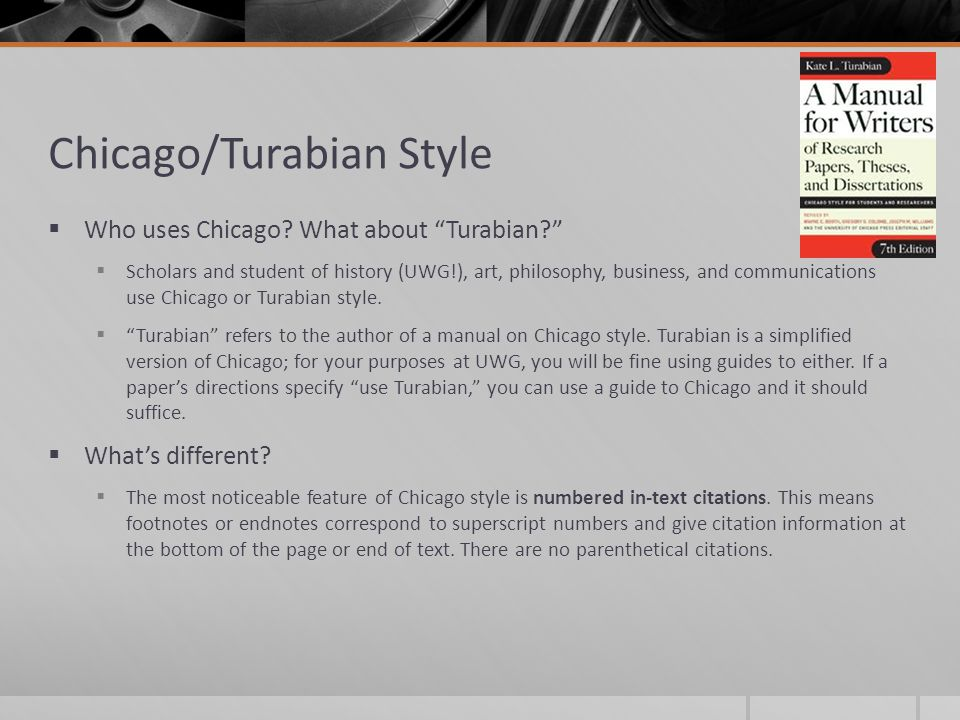 chicago style in text citation sample paper