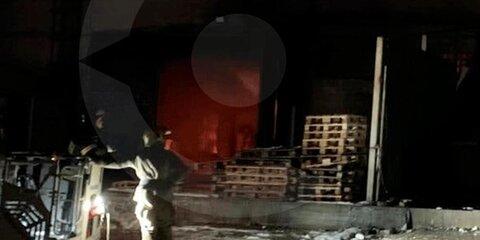 Ликвидировано открытое горение внежилом здании вПодмосковье