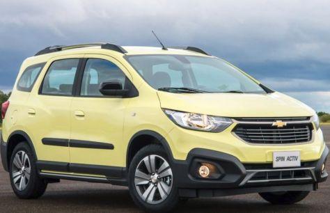 Обновленный Chevrolet Spin Activ получил 7-местный салон
