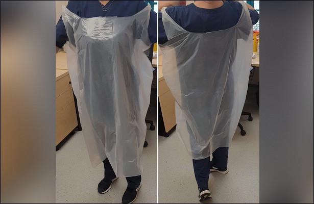Медиков одели вмусорные мешки длязащиты отCOVID-19