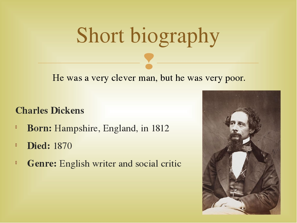 Biography of english