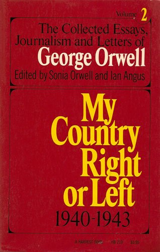 Write my george orwell collected essays