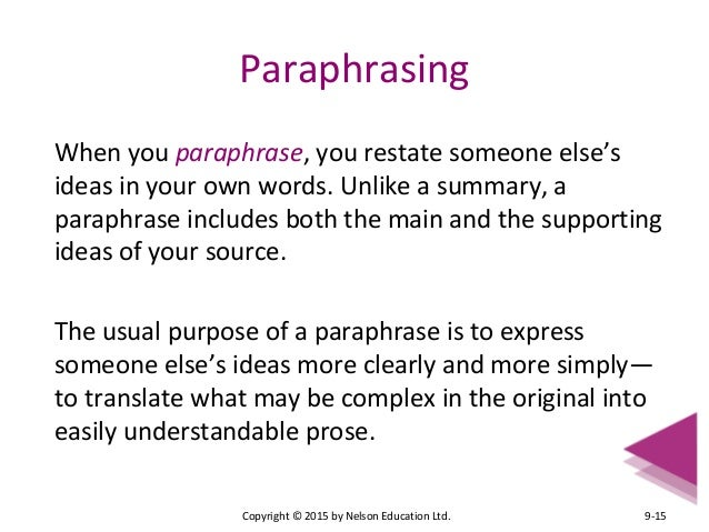 when to paraphrase in an essay Use our essay paraphraser to rewrite your essay perfectly for your audience click here to learn more.