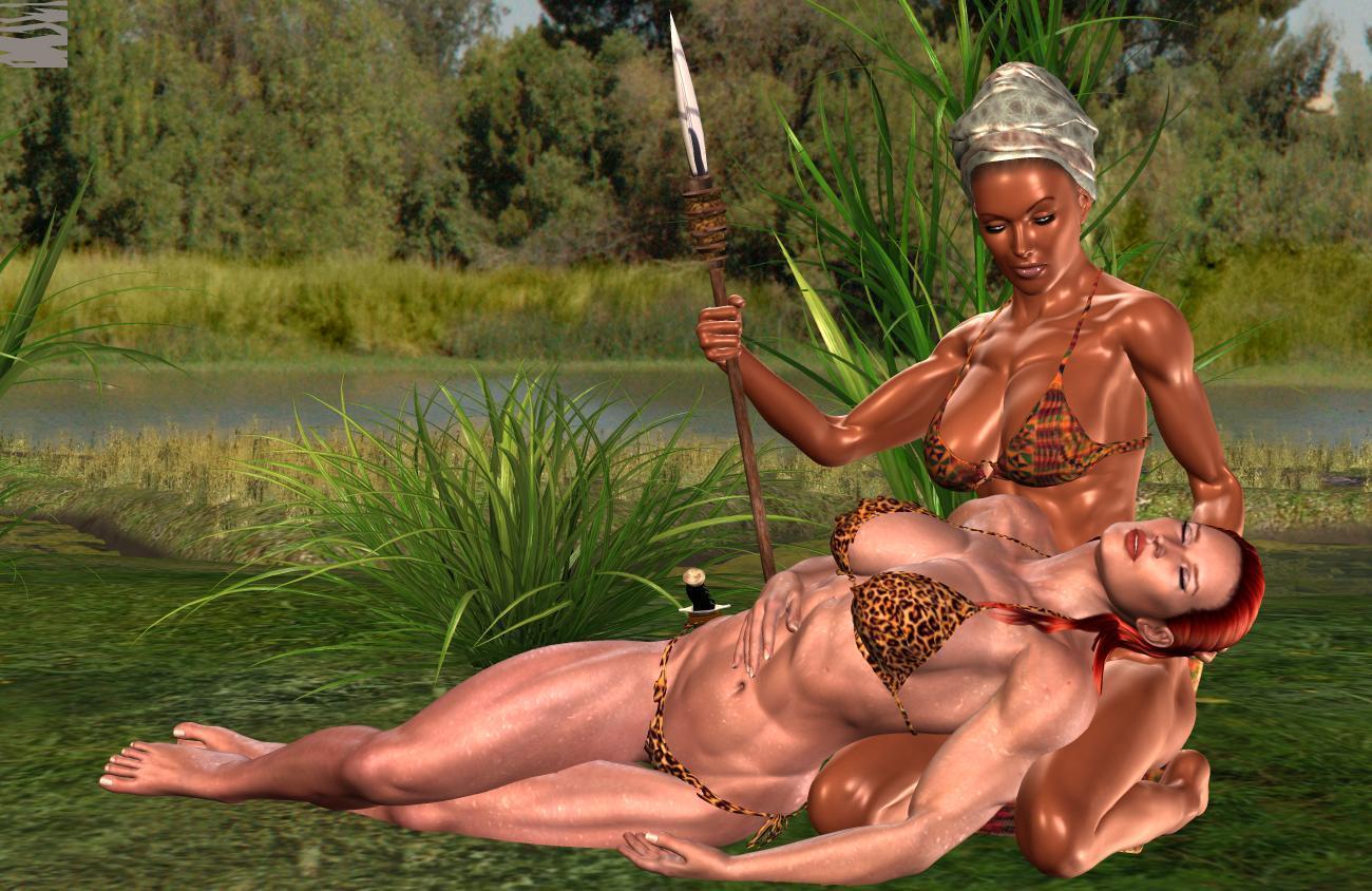 Full screen slideshow of naked women