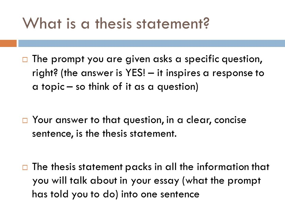 Thesis statement - Define Thesis statement at
