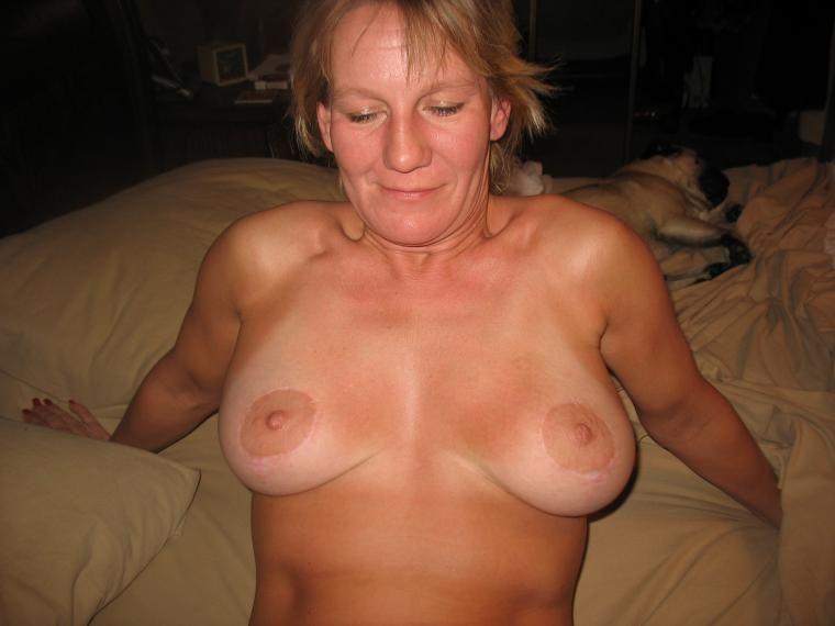 Mature nude selfies tan line