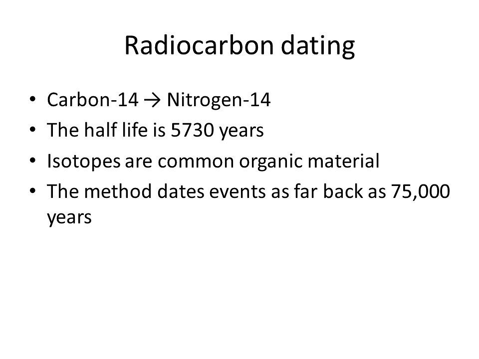 Carbon dating worked examples