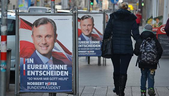 Наповторных президентских выборах вАвстрии лидирует Ван дер Беллен