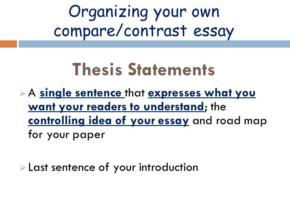 Writing A Compare/Contrast Paper - TIP Sheet - Butte College