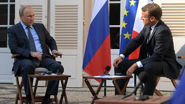 Кремль необратил внимания нановую статью оразговоре Путина иМакрона