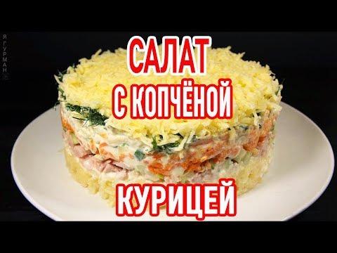Вкусные быстрые рецепты салатов с курицей