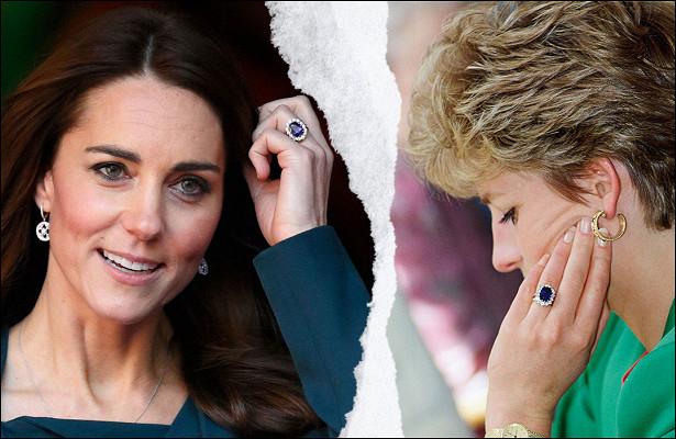 История того самого кольца Кейт Миддлтон с12-каратным сапфиром, которое задало свадебную моду десятилетия